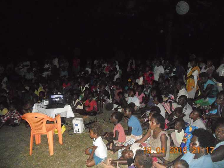 Media Night Activity During The Pilgrimage At Tutu Village. North Choiseul