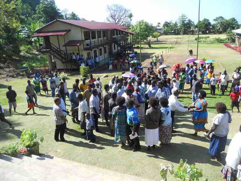 Peace And Reconciliation Took Place In Toumoa. Shortland Islands