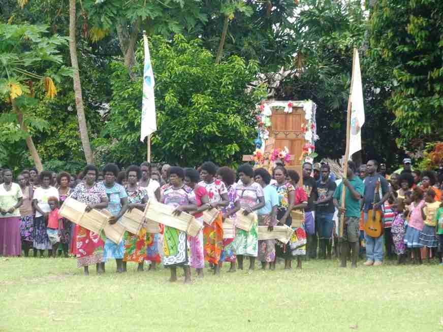 The Women Of Aleang Shortland Welcome The Holy Door On Arrival