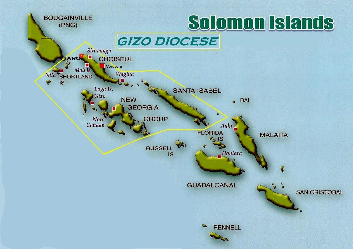 gizo diocese map