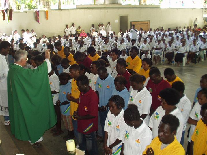 Archbishop Adrian Blesses youth